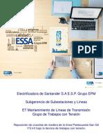 ESSA Reposición Estructuras Bajo La Técnica de Trabajos Con Tensión a Potencial