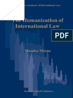 Theodor Meron - The Humanization of International Law