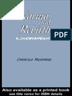 ChristmasHumphreys Karma and Rebirth