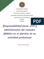 Responsabilidad Penal, Civil y Administrativa Del Contador Público