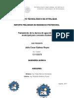 Formato de Reporte Preliminar de Residencia Profesional29