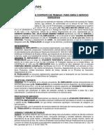 Renovación de Contrato de Obra- Los Tallanes -Valerio Silvestre Marco Antonio