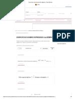 Exercícios sobre Expressão algébrica - Brasil Escola.pdf