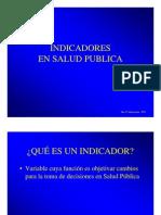 Indicadores salud pública