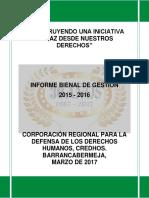 Informe de gestión bienal de CREDHOS.Final