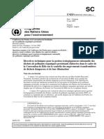 Directives Techniques Pour La Gestion Écologiquement Rationnelle
