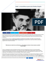 Um analise do poema de chaplin