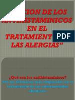 Accion de Los Antihistaminicos en El Tratamiento