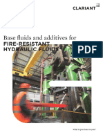 Base Fluids and Additives for Fire Resistand Hydraulic Fluids