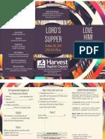 Ls Lords Supper John 13-23-26 Handout 102917