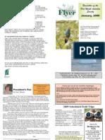 January 2009 Southwestern Flyer Newsletter Fort Worth Audubon Society