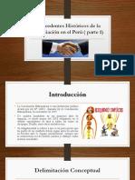 Antecedentes Históricos de La Conciliación en El Perú