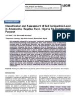 Classification and Assessment of Soil Compaction Level in Amassoma, Bayelsa State, Nigeria for Construction Purpose
