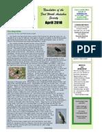 April 2010 Southwestern Flyer Newsletter Fort Worth Audubon Society