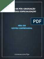 Ementa Mba Gestão Empresarial 2.0 - 2017