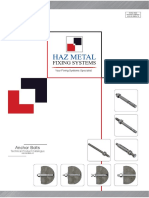 Haz Metal Anchor Bolts Technical Catalogue