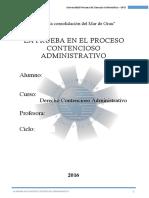 La Prueba en el Proceso Contencioso Administrativo - Peru