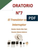 LABORATORIO N 7el Transistor Como Interruptor