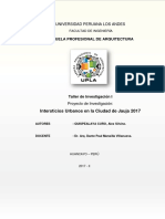 Taller de Investigacion i - Intersticios Urbanos de La Ciudad de Jauja