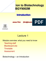 BGY9002M Lecture 1 - Introduction 2017 (2)