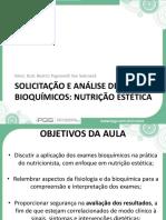 Slide Módulo 1 - Utilização de Exames Laboratoriais Pelo Nutricionista Como Instrumento Para Embasar a Conduta Dietética