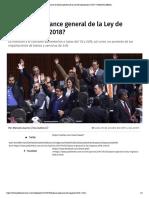 30-10-17 ¿Cuál es el balance general de la Ley de Ingresos para 2018?