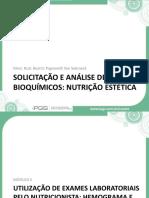 Análise Hematológica (Qualidade Bioquímica Do Sangue) e Avaliação Dos Carboidratos No Sangue