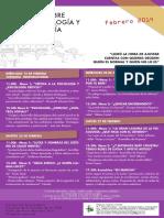 Cartel Jornadas Contrapsicología y Antipsiquiatría