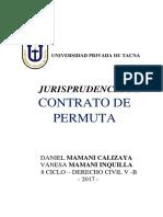 Ejecutoria y Jurisprudencia Del Contrato de Permuta