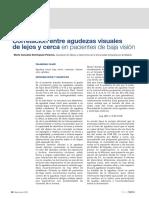 Correlacion Entre La Agudezas Visuales de Lejos y de Cerca en Pacientes de Baja Vision