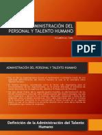 Administración Del Personal y Talento Humano