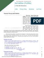 Operasi Hitung pada Matriks - Konsep Matematika (KoMa).pdf