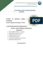 Informe de Concentraicon de Minerales 1 Todo Completo