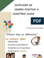 Presentación Diciplinar de manera positiva