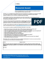 Entry Form - Alan Jenkins Memorial Award 2017