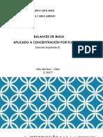 2. Balances de Masa - Flotación