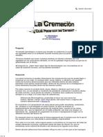 La Cremación - ¿Qué Pasa Con Las Cenizas
