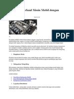 40 Cara Overhaul Mesin Mobil Dengan Mudah