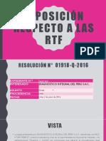 Exposición Respecto a Las RTF