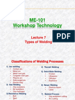 Lecture 7 (Types of Welding)
