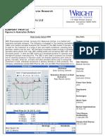 Wright Investors Service Comprehensive Report for MGC Pharmaceuticals Ltd