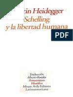 Heidegger Schelling y La Libertad Humana