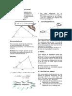Teorema o Ley Del Coseno