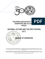 Attachment to Advisory No. 169 Manual of Operation for the 2017 National Culture and the Arts Festival