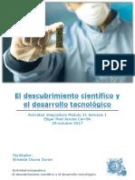 Actividad Integradora 1 Descubrimiento Científico y Desarrollo Tecnológico M21S1