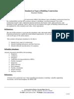 NFPA 220 Seminar Outline