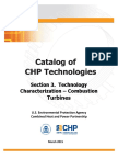 Catalog of Chp Technologies Section 3. Technology Characterization - Combustion Turbines