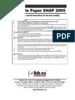 Snap 2011 Question Paper Pdf