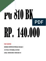 Harga PG 810 BK