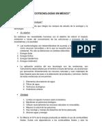 Ecotecnologías en México